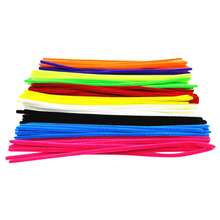 100pcs Montessori Materials Chenille Children Plush Educational Toy Crafts Colorful Pipe Cleaner Toys Handmade DIY Craft(China (Mainland))