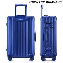 """Nouvelle arrivée 20 """" 24 """" pouces 100% bagages en aluminium complète, Rivet renforcé chariot, Rouleau valises, Haute qualité TAS de verrouillage sac de voyage(China (Mainland))"""