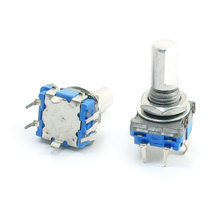 UXCELL 2Pcs 6Mm D Shaft 7Mm Thread 5 Pins 360 Degree On/Off Momentary Push Button Switch Rotary Encoder(China (Mainland))