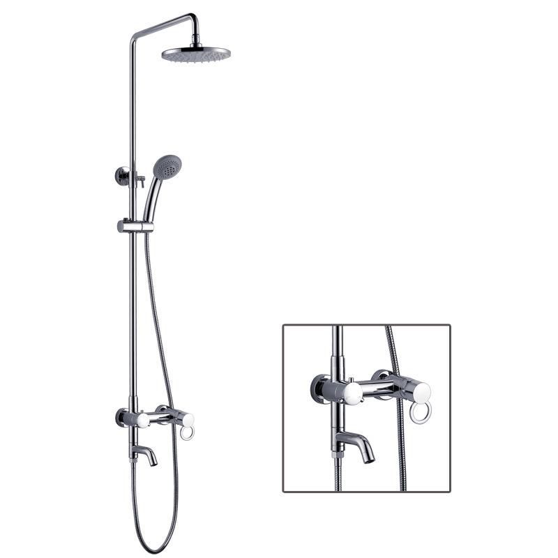 2015newAZOS suite shower AE7016 Kits LED surface mounted thermostat shower faucet hot and cold shower<br><br>Aliexpress