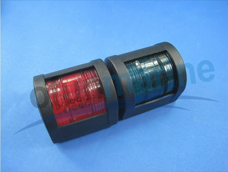 Marine/Boat/Yacht Navigation Light With 12V LED Right Green Starboard Light + Left Red Port Light 2PCS/Pair(China (Mainland))