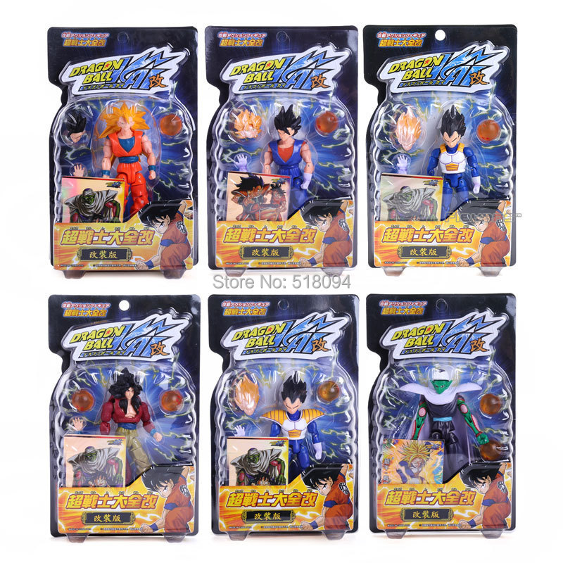 6pcs/set Dragon Ball Z PVC Figures KAI Goku / Vegeta / Piccolo Super Soldier Can Be Retrofitted 13cm Toys Free Shipping DBFG054(China (Mainland))
