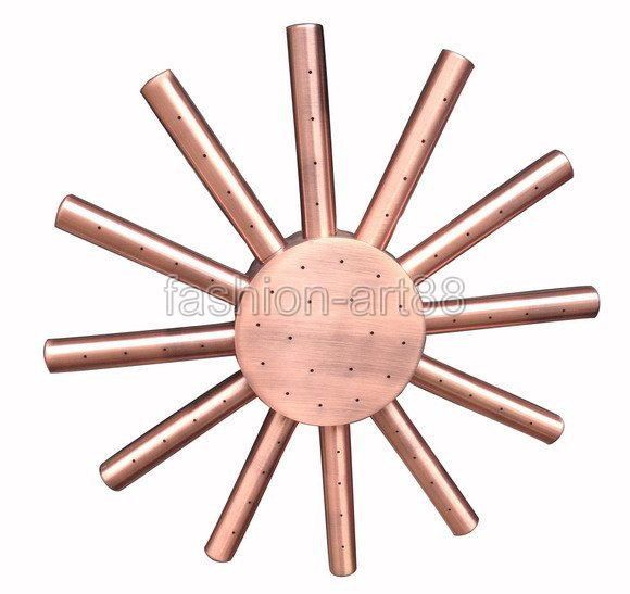 "8"" ( inch ) Vintage Red Copper Antique Brass Sun Shape Bath Rainfall Shower head / Bathroom Accessory (Standard 1/2"") ash031(China (Mainland))"