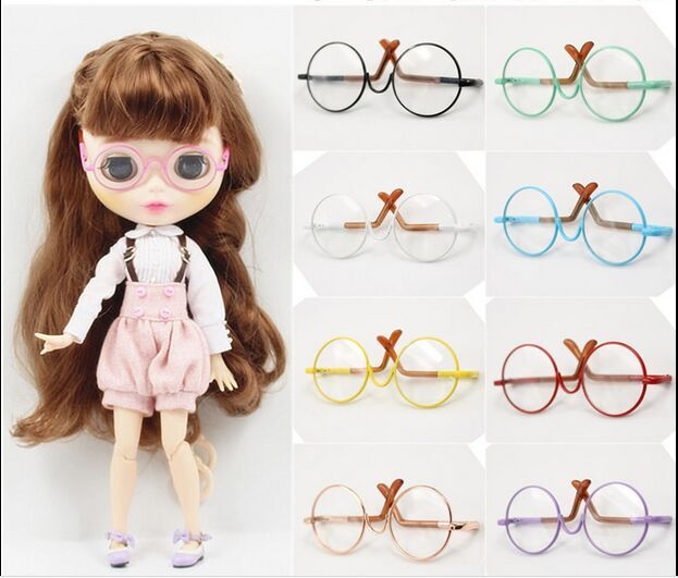 Nude blyth doll glasses/Eyewear(suitable for blyth ,1/6 doll ) 8 color(China (Mainland))