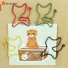 12pcs/lot Cat Shape Paper Clips Creative Interesting Bookmark Clip Memo Clip Shaped Paper Clips for Office School Home
