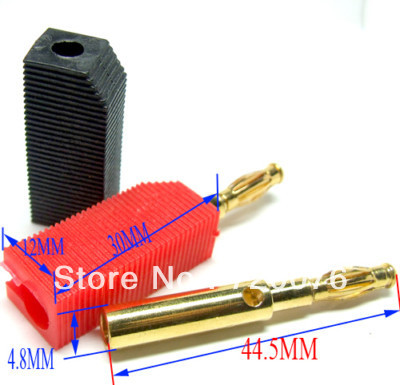 wholesales Gold plating 4MM banana plug for Binding Post Speakers Terminals free shipping<br><br>Aliexpress