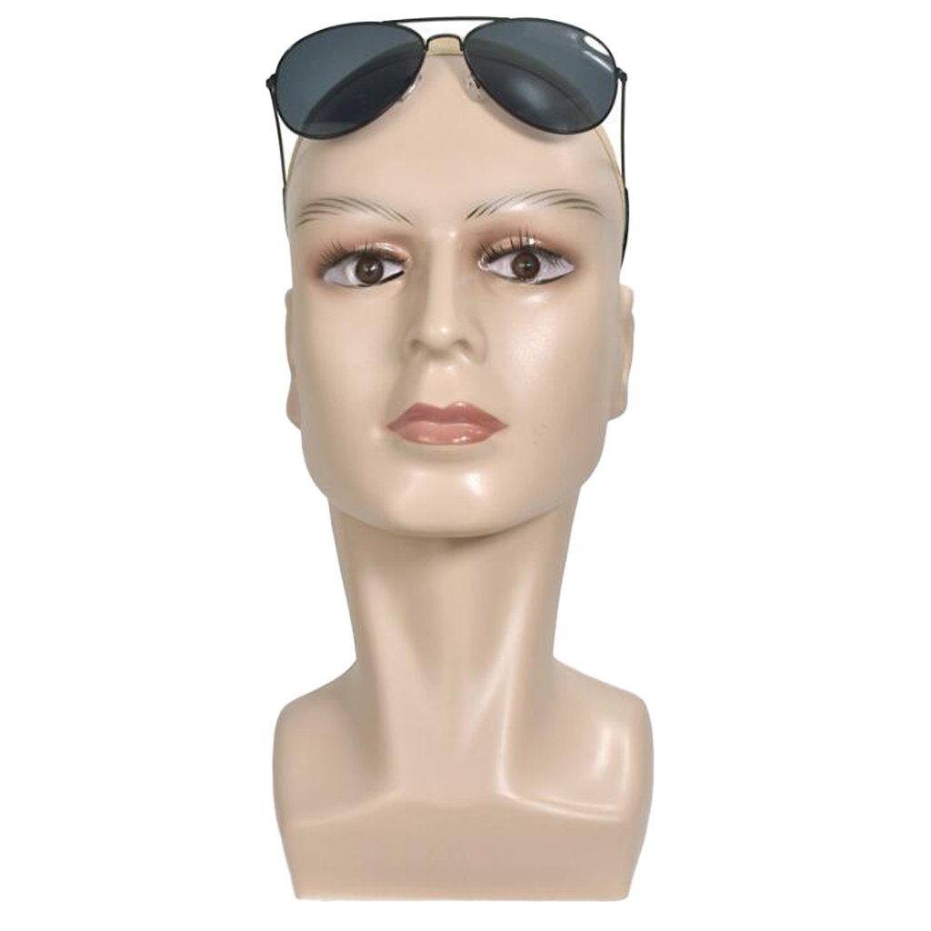 Realistic Mannequin Head Life Size Wig Display Hat Scarf Rack Skin Color