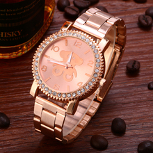 The new women's rose gold watches the 2016 hot style watch gold quartz watches leisure time clock, silver gift for women's watch