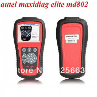 100% original Autel MD802 maxidiag elite md802 code reader all system free shipping