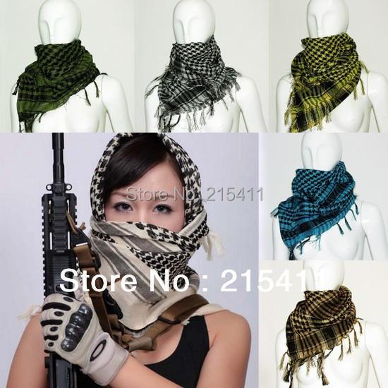 New Military Shemagh Scarf Arab Chequered Arafat Keffiyeh Tactical Desert Wrap(China (Mainland))