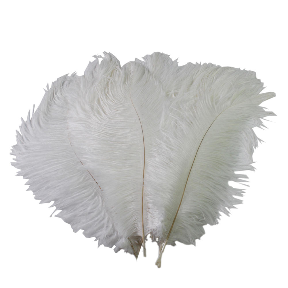 10Pcs 12-14 inch White Ostrich Feathers Natural Ostrich feathers Wedding Birthday DIY Crafts Party Celebration Decorations(China (Mainland))