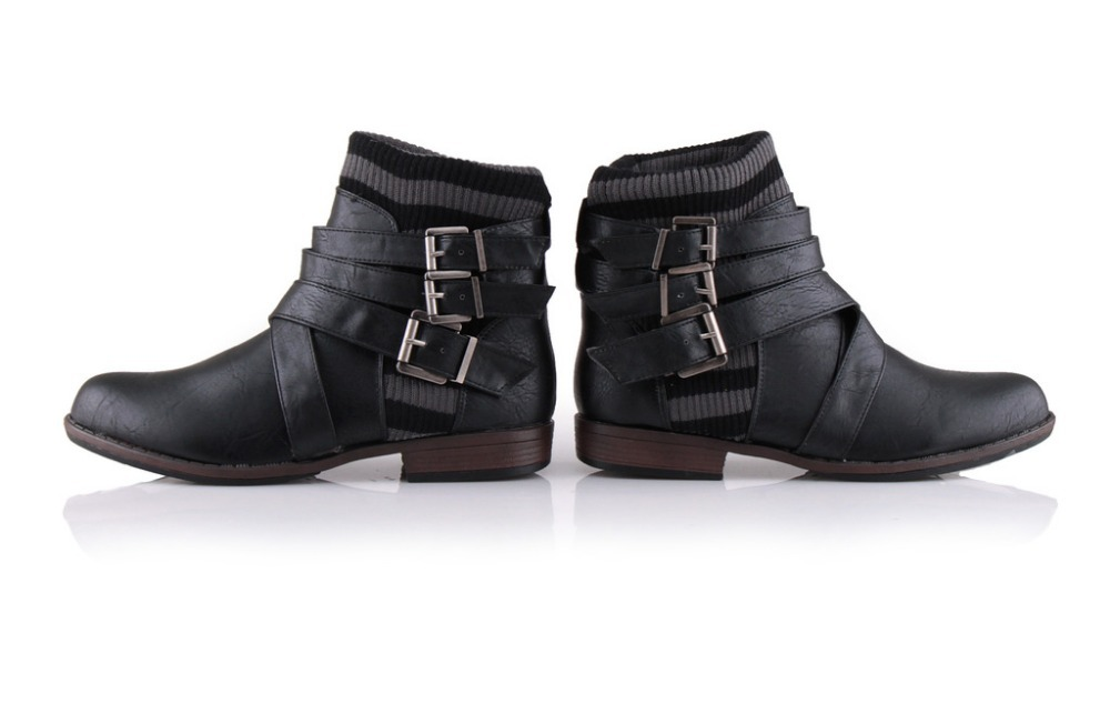 Womens Black Ankle Boots - Cr Boot