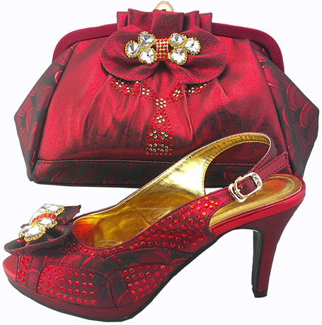 free shipping by dhl dress shoe and matching bag