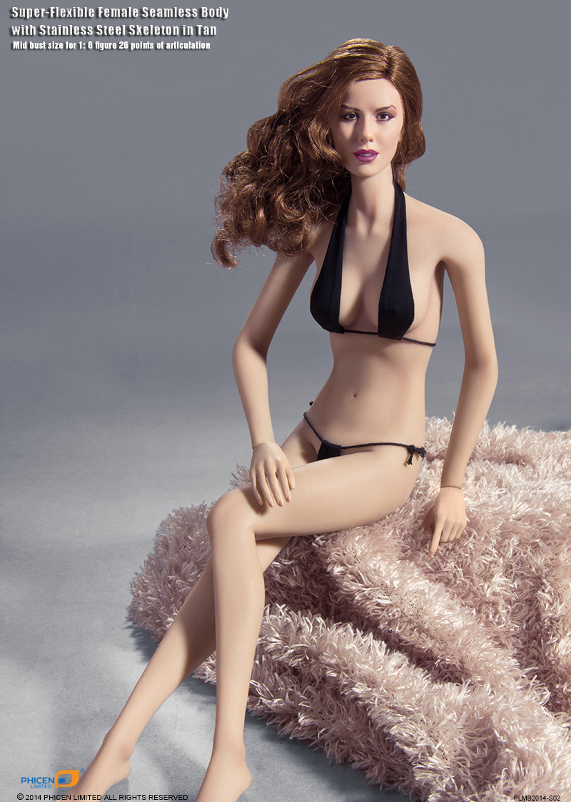Free shipping1/6 Scale Female figure doll12 Super-Flexible Action figure doll Seamless Body with Stainless Steel Skeleton .toys<br>