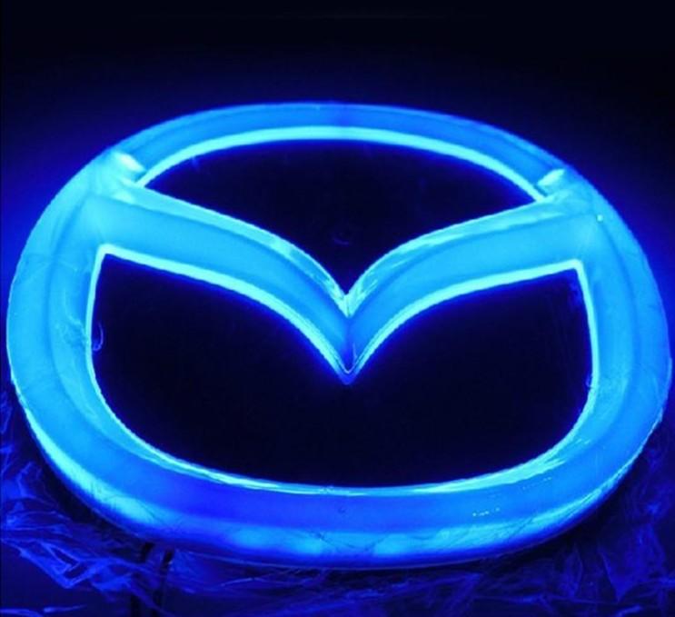 All Bmw Warning Lights >> MAZDA LOGO Auto LED Mark Car Front Badge Light Single Colour For Mazda 2 / Mazda 3 Size 12CM*9 ...