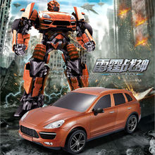 one key deformation remote control robot model car juguetes anime action figure brinquedos toy for boys