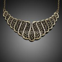 ASLT European and American Vintage Rhinestone Hollow out Choker Short Necklace(China (Mainland))