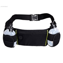 2016 Running Sports Waist Pack Holder Bum Bag Travel Waist Belt Pouch With Dual Water Bottle dollar price SV027683#out door bag