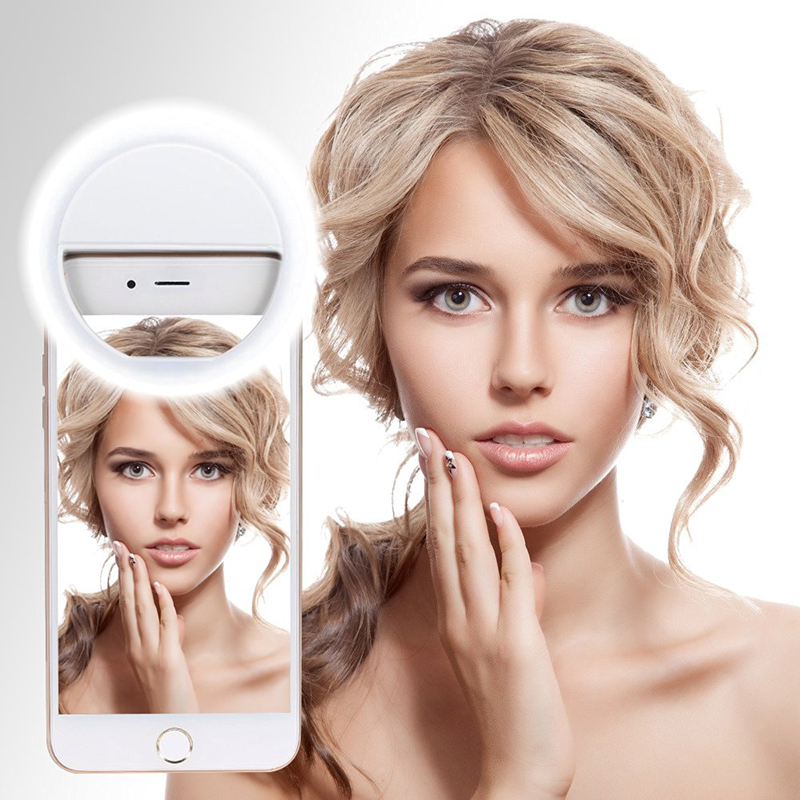 Selfie Portable Flash Led Camera Phone Photography Ring Light Enhancing Photography for Smartphone iPhone7 plus 6 5s 4s Samsung