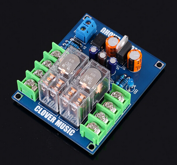 UPC1237 speaker speaker protection board kit parts reliable performance dual Omron Relay For HIFI Amplifier DIY(China (Mainland))