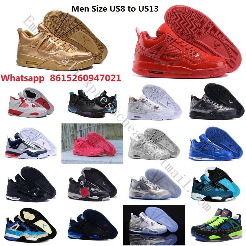 Free shipping new mens air jordan 4 iv retro mid red db laser white boots with original box man size US 8 8.5 9.5 10 11 12 13(China (Mainland))