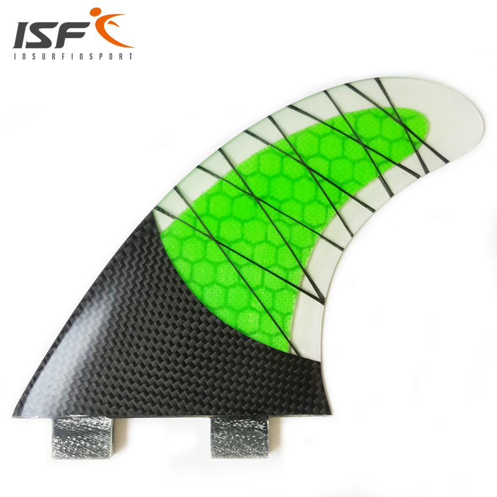 NEW Style FCS Fin Carbonfiber Green Surfboard Fins prancha quilhas de Surf Fins have 3 size (G3 ,G5, G7)(China (Mainland))