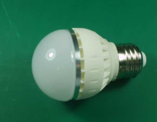 3*1W led bulb with ceramic housing,dia 50*88mm,E27base,AC90-240V input, warm white