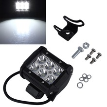 """Buy 4"""" inch 18W LED Work Light Lamp Motorcycle Tractor Boat Road 4WD 4x4 Truck SUV ATV Spot Flood 12v 24v hot sale for $14.19 in AliExpress store"""