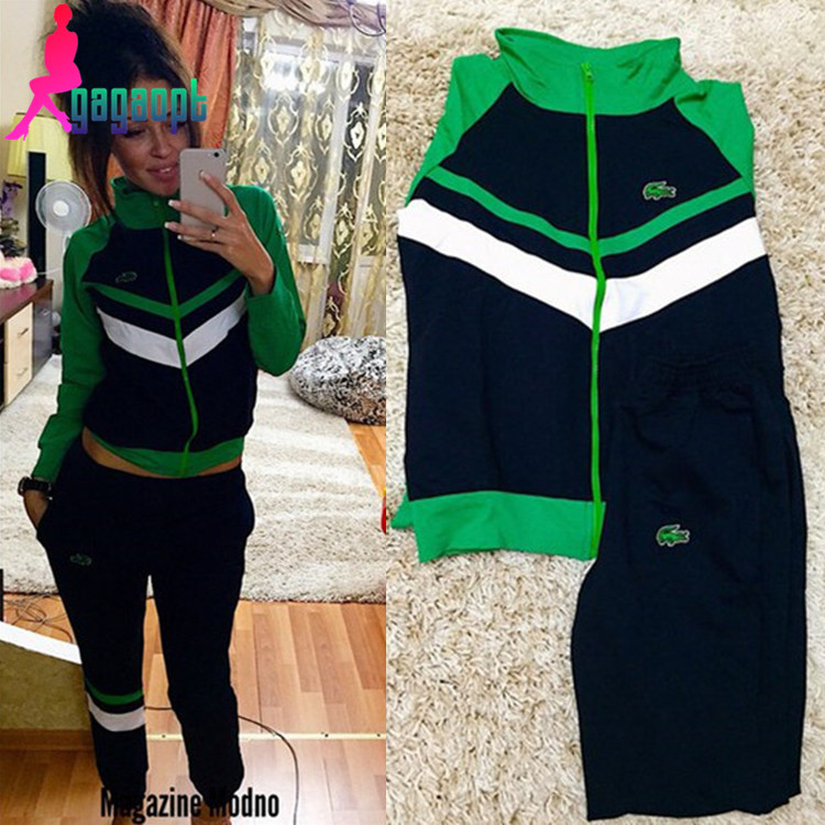 Gagaopt 2016 new women zip-up patchwork fashion sports suit Одежда и ак�е��уары<br><br><br>Aliexpress