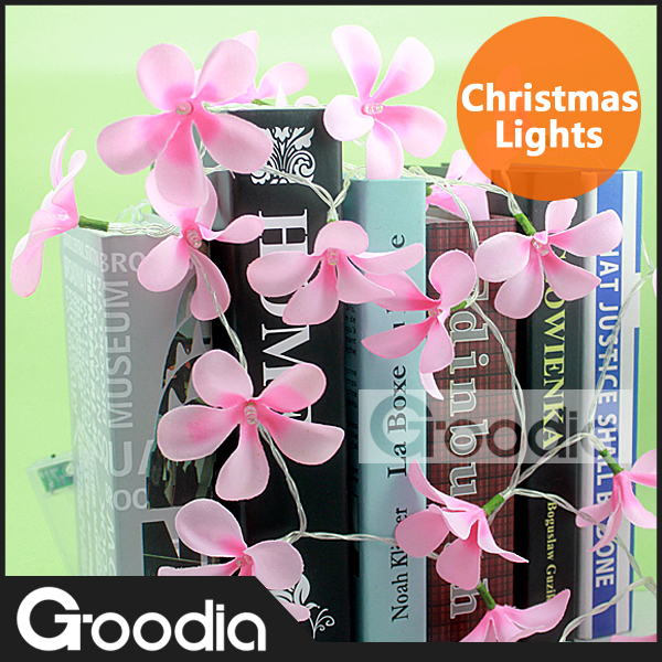 [Goodia]Flower String Light Garland Lamp for Christmas LED Strip light Cherry Tree Wedding Decoration fiestas pendant luminaria(China (Mainland))