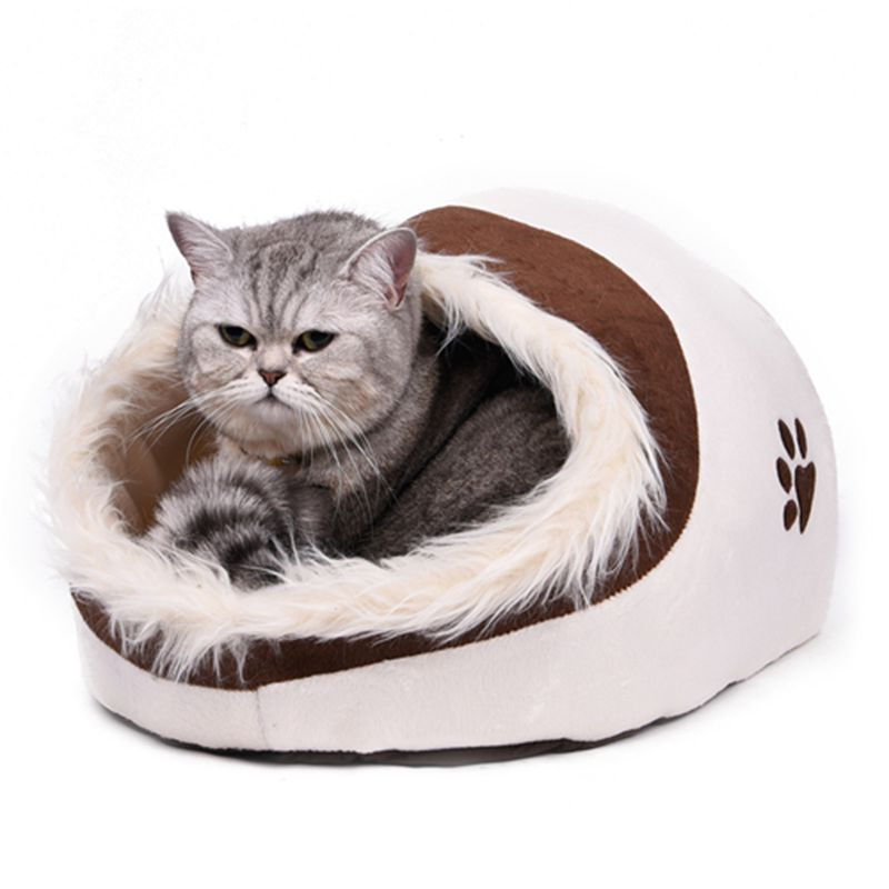 US/AU Fast Shipping Dog Cat House Super Cute Pet Kennel With Feather Puppy Bed High Quality Warm In Winter/Autumn 4 Colors(China (Mainland))