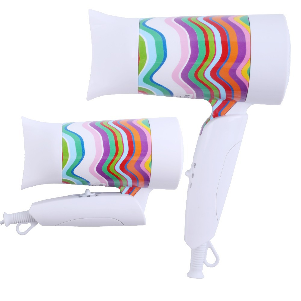 1200w New European Colorful Stream Floral Print With Nozzles Hot Cold Wind Foldable Travel PC Hair Dryer to Dry Hair,CE RoHs(China (Mainland))