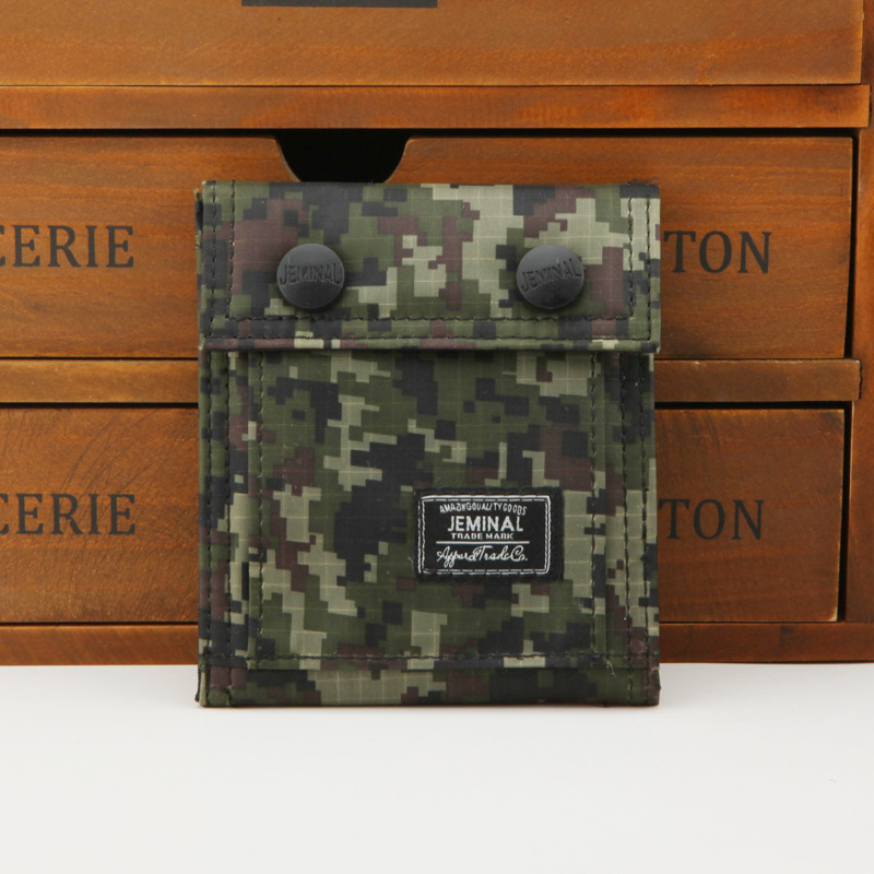 New Men's Army Style Wallet Camouflage Color Short Pattern Canvas Wallet Male Sport Camouflage Wallets Purse Free Shipping(China (Mainland))