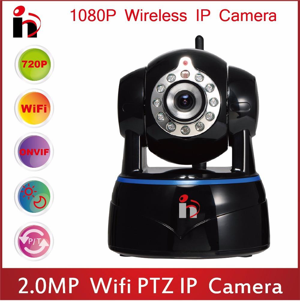 HY Free Ship 2-way Audio HD 1080P IP Camera P2P Security Surveillance Camera H.264 ONVIF Camera IR Cut Wifi Wireless PTZ Camera(China (Mainland))