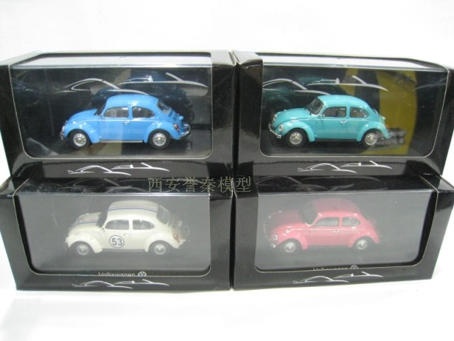 NOREV 1/43 Classic Mini Volkswagen Beetle four-color optional metal bottom special promotions(China (Mainland))