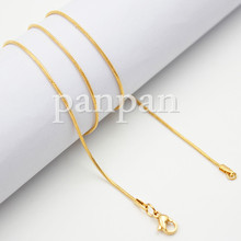 Panpan 20 snake nacklace chain for floating locket pendant jewelry stainless steel snakes for floating lockets