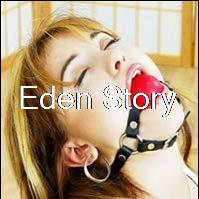 Leather Open Mouth Gag Toy Harness Restraint Bondage With Red Latex Silicon ball For Couples Women Men Adult Fetish Sex Game(China (Mainland))