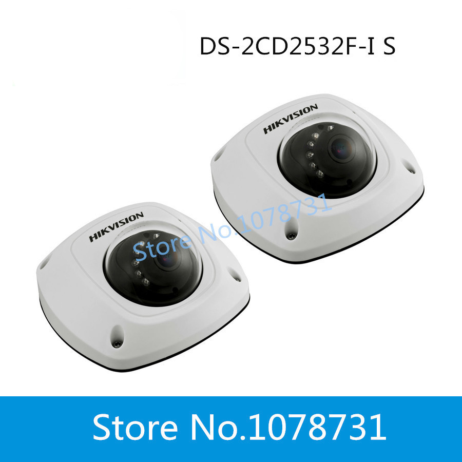 2pcs/lot DHL Free Shipping Hikvision 3MP IP Dome Camera Waterproof DS-2CD2532F-IS  Audio Alarm SD Card<br><br>Aliexpress