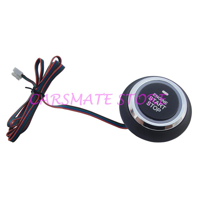 Engine Starter Switch Single Car Push Start Button,Push Stop Car Engine Button,Ignition Start By Pressing Button(China (Mainland))