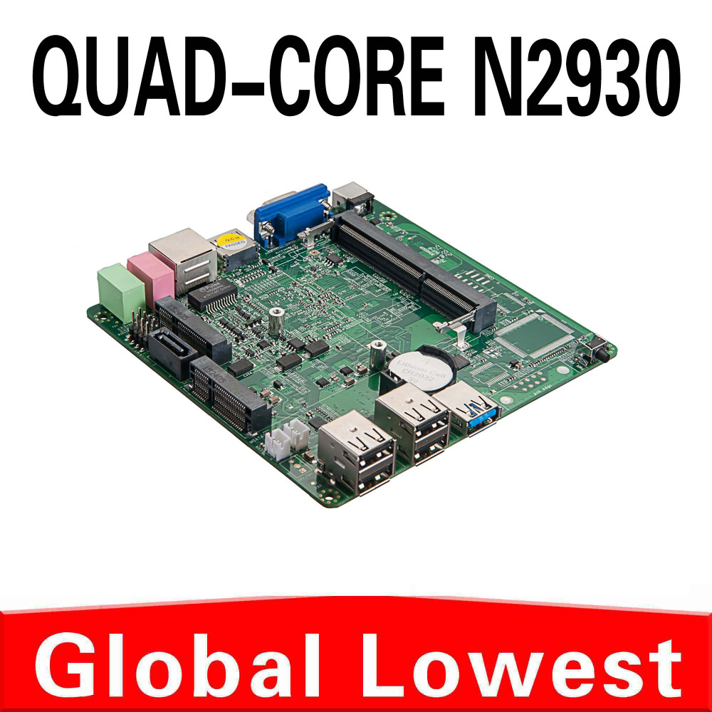2015 New Celeron quad core N2930 mini motherboard N2930 mainboard industrial mini itx with 1*HDMI,5*USB for 1 lan port(China (Mainland))