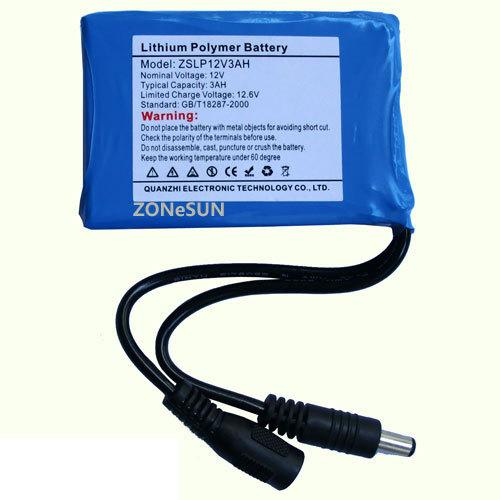 3000mAh 734069 11.1V lithium polymer battery mobile device monitors sweep decoder(China (Mainland))