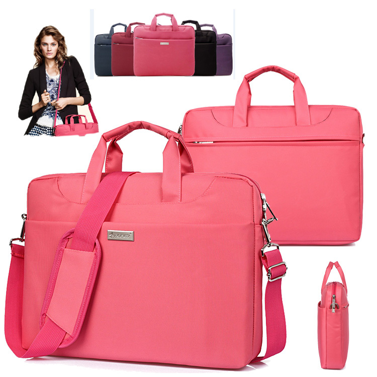 Nylon Men Women Lady Laptop Shoulder Bag Handle Carrying Case Tote Briefcase Messenger for 13 14 15 15.6 inch Notebook Macbook(China (Mainland))