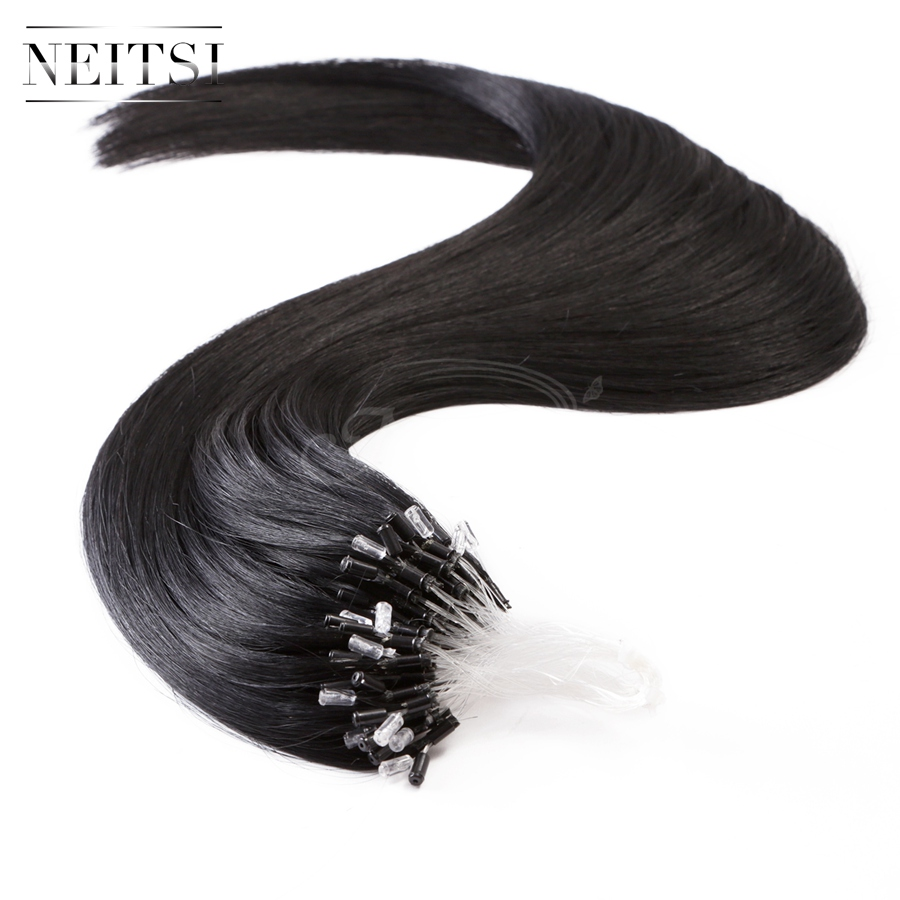 1# Micro Loop Ring Human Hair Extensions 20inch 1g/s 50s 100s  5A 100% Brazilian Virgin Remy Hair Straight Free Shipping<br><br>Aliexpress