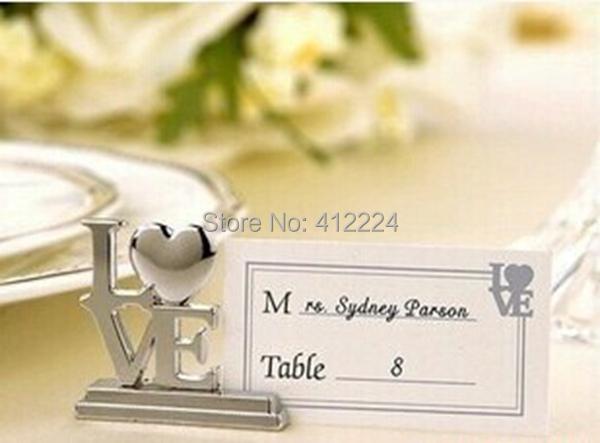 + Love Wedding Table Place Card Holder Bridal Shower Souvenirs Favor Party Supplies,20 - Shanghai J&A International Trading Co., Ltd Co.,Ltd store
