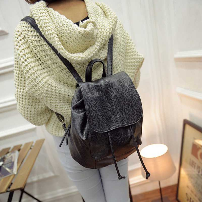 New Fashion Women Backpack Unique Woven Casual Double Shoulder Bags Soft PU Leather Students School Bag Popular(China (Mainland))