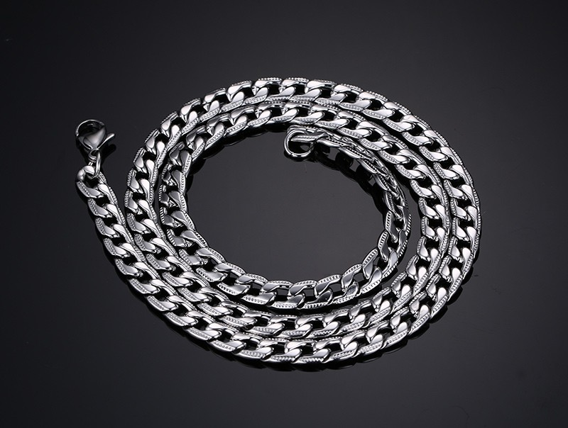 Fashion Silver Chains Necklace For Women Men Stainless Steel Snake Chain 2024inch Wholesale Costom Jewelry (1)