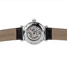original seagull black genuine leather 50m waterproof transparent dial automatic Mechanical men Skeleton watch