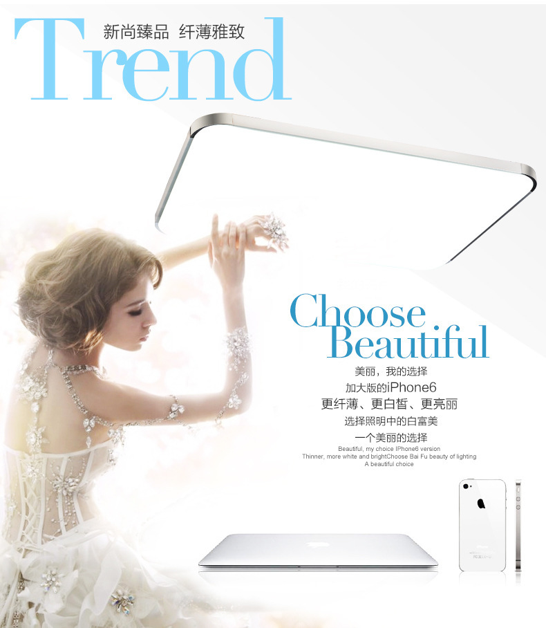 99%OFF 2015Modern LED Apple Ceiling ligh Square 24W 30CM led Ceiling Lamp kitchen light bedroom modern livingroom free shipping(China (Mainland))