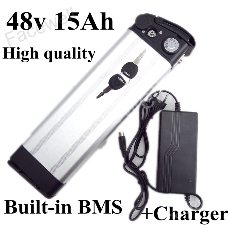 Brand cells 48v 15ah battery pack lithium ion mid drive 48v 250w 350w 48v 500w electric bike kit with battery with BMS + Charger