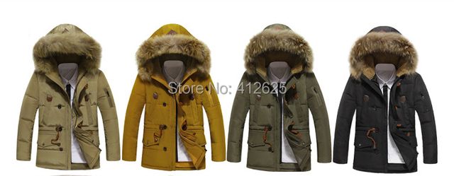 Promotion  winter men's  warm duck's down jacket outdoors Parkas hot sell free shipping